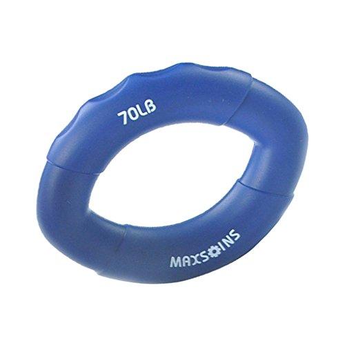 SM SunniMix Silikon Handtrainer Ring Ergonomisch Griffkraft Trainer Fingertrainer - Blau 70LB