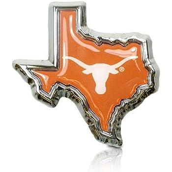 Elektroplate University of Texas Longhorn 3d Chrome Metal Auto Emblem UTX-C