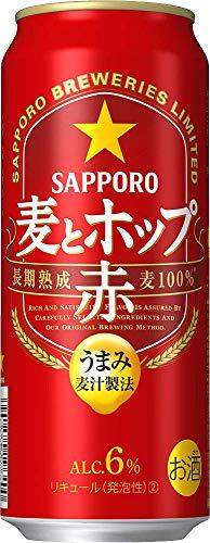 【新ジャンル】サッポロ 麦とホップ<赤> [ 500ml×24本 ]
