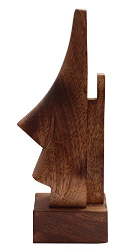 "abhandicrafts Sale for Today ONLY 6"" Witty Mango Wood Polish Wooden Spectacle Holder - Nose Shaped Eyeglass Holder Display Stand - Desktop Accessory"