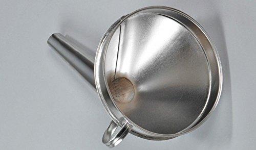 Imbuto in metallo zincato con filtro in metallo, per benzina, olio, coloranti