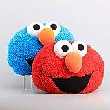 Zpong 2Pcs Sesame Street Peluche Elmo Y Monstruo De Las Galletas Almohada De Peluche Muñecos Suaves Rellenos Niños 30 * 40 Cm