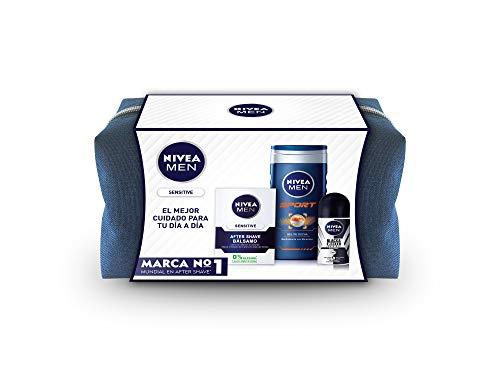 NIVEA Men pack sensitive gel de ducha 250 ml + after shave 100 ml + deo 50 ml
