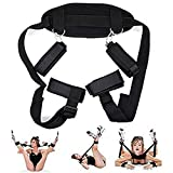 Bed Rëstrâînts Bóńdágê Sët Handcuffs Toys for Adults Yoga Games Leg Open Neck Ankle Cuff Straps Adullt Toy for Pleasure Couple Sëx Privacy