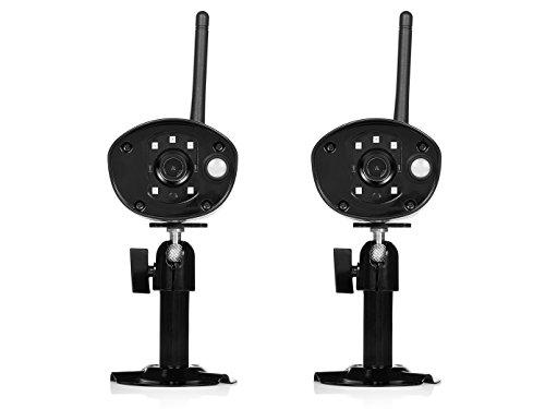 Set van 2 IP-camera's outdoor, nachtzicht tot 8 m, HD-resolutie, bediening via app.