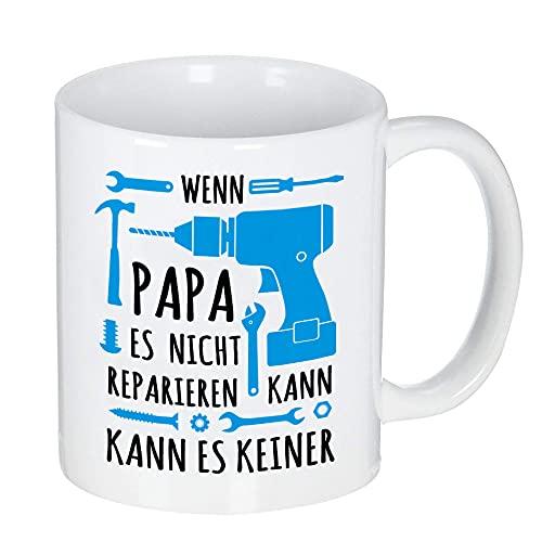 Geschenke für Männer, Wenn Papa es nicht reparieren kann kann es keiner Tasse für Papa Geschenke, 350ml Kaffeebecher Männer Geschenk für Geburtstag Weihnachten Vatertag Valentinstag Geschenkideen