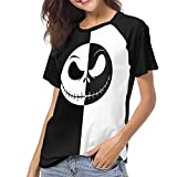 Women's The Nightmare Before Christmas Ladies and Men's 3D Printed Short-Sleeved T-Shirts 9-XL