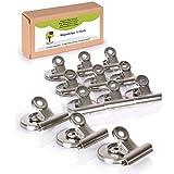 OfficeTree 12 clips magnéticos Imanes - 37 x 28 x 30 mm - con adhesivo antiarañazos - ad...