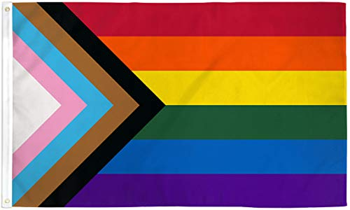 Progress Pride Flag 2x3ft Poly - Perfect for Showing Your Pride Community Support! 2x3ft Poly