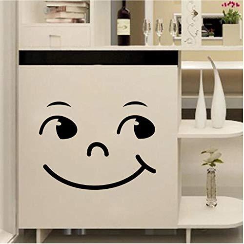 Pegatinas de pared Desenhos animados Smiley face Adesivo de parede de vinil Decalques de parede armário para quartos de crianças adesivos de decoração de casa Papel de parede removível