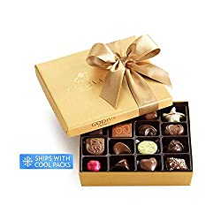 Godiva Chocolatier Classic Gold Ballotin Chocolate, Perfect Hostess Gift, Gifts for Her, Mothers Day