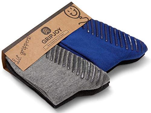 Gripjoy Lil' Grippers Grip Socks for Infants Toddlers Babies Kids Boys Girls 4pk