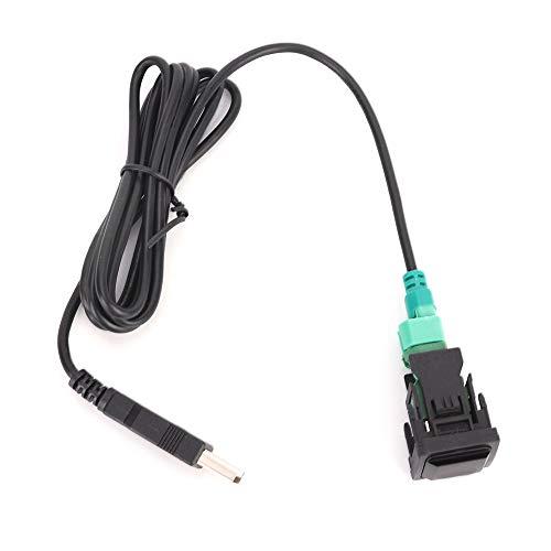 Auxiliar en el coche, hembra de 3,5 mm, entrada auxiliar, adaptador de audio, cable cambiador, reproductor de radio de coche, interruptor de botón USB, adaptador de cable convertidor USB, piezas de au
