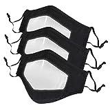 SHUANGA Sac de respirateurs Contre la poussière, Masque de Pollution 3D réutilisable et Lavable, Masque en Coton à l'épreuve du Vent, Cyclisme, Adulte Noir de Voyage Camping