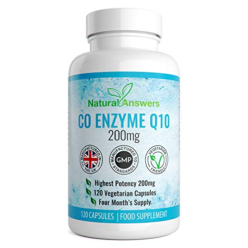 Coenzyme q10 200mg co q10 CoQ10 200mg Co Enzyme Q10 120 coenzyme q10 coenzyme-q10 Capsules 4 Months Supply of coq10 Tablets co- Enzyme q10 co enzymes co Enzyme UK Manufactured by Natural Answers