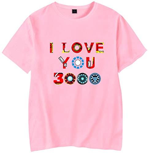 Silver Basic I Love You 3000 T Shirt R.I.P Iron Man del Avengers Endgame per pap/à e Bambino Film Fans