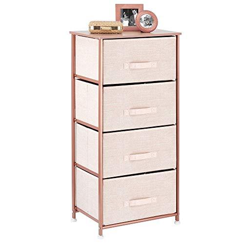 mDesign Storage Dresser Furniture Unit - Tall Standing Organizer Tower for Bedroom,...