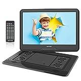 WONNIE - Lettore DVD portatile da 17,5', con schermo di rotazione di 15,6', 1366 x 768 HD, batteria...