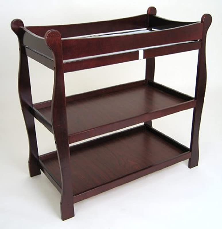 Cherry Sleigh Style Changing Table