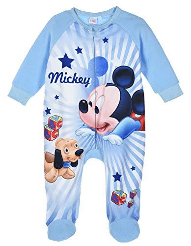 Mickey Mouse bebé-niños Pijama Largo (Azul,12 Meses)
