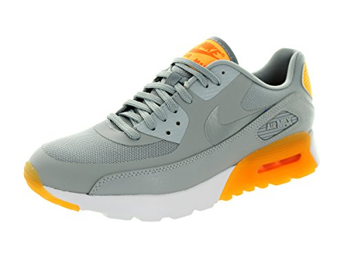 Nike Women's Air Max 90 Ultra Essential Wlf Gry/Cl Gry/Lsr Orng/Ttl Or Running Shoe 7.5 Women US