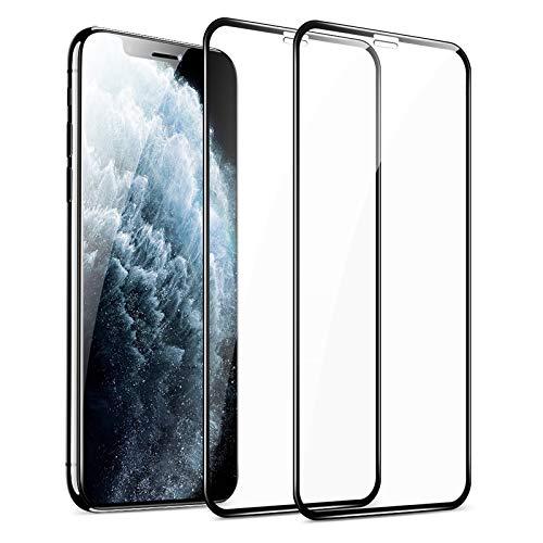 ESR Pellicola Compatibile con iPhone 11 PRO,X,XS, 2 Packs, Pellicola Vetro Temperato, 3D Massima Protezione a Copertura Totale, Applicatore per Installazione Facilitata