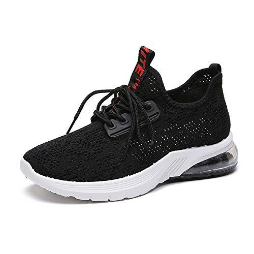No Zapatillas de Deporte para Mujer Zapatillas de Deporte para Correr Zapatillas de Deporte Transpirables para Mujer Zapatillas antideslizantesZapatillas Deportivas de Fondo Suave-Negro_40