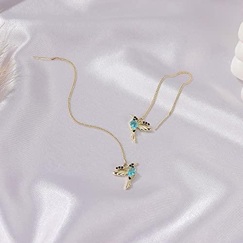YONGYAN Long Earrings for Women Color Bird Earrings, Long Bird Earrings, Female Hummingbird Earrings, Cute Animal Earrings (Color : B)