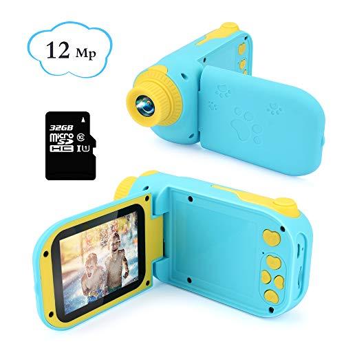 Bestcool Kinder Digitalkamera 2,4 Zoll Bildschirm Kleinkind Kameras ini Wiederaufladbare1080P HD Kinder Video Rekord Kamera mit 32 GB SD-Karte Für Jungen Mädchen Alter