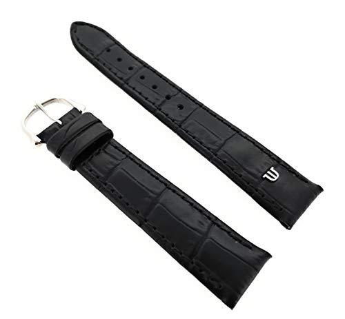 Maurice Lacroix Kroko Grain Original - Correa para reloj (18 mm, hebilla de acero inoxidable), color negro