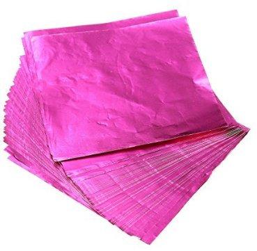 Fendii 100 stks Vierkante snoepjes Snoep Chocolade Lolly Papier Aluminium folie Wrappers Goud Roos
