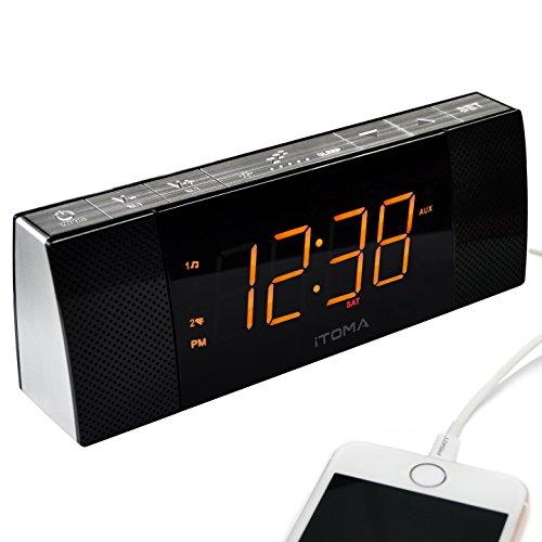 Radio Despertador iTOMA con Altavoces Bluetooth