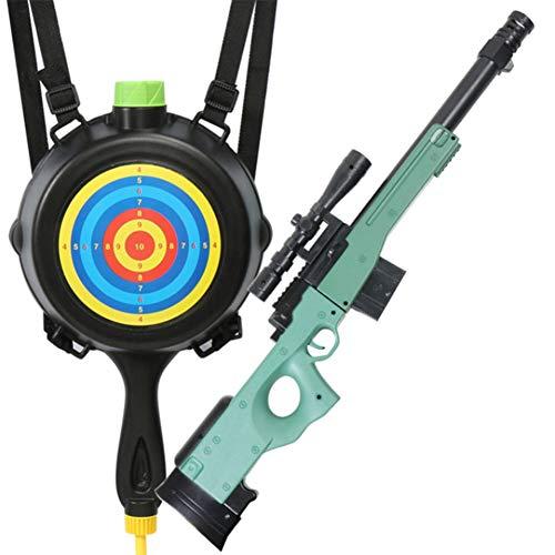 GEEFSU-AWM Pistola De Agua de Mochila Squirt Gun a Chorros Los Armas 1.4L Playa al Aire Libre del Jardín del Agua de Juguete de Juguetes para Adultos de Los Niños