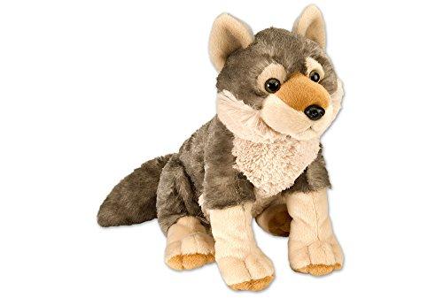 Wild Republic Plüsch Wolf, Cuddlekins Kuscheltier, Plüschtier, 30cm