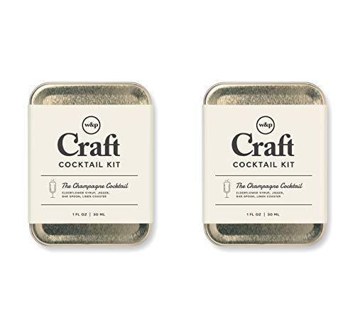 W&P Craft Cocktail Kit, Champagne Cocktail, Portable Kit for Drinks on the Go, Carry On Cocktail Kit, Pack of 2