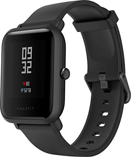 Amazfit Bip Lite Smartwatch - mit Herzfrequenz-Messung, Smart Notifications - 3ATM wasserdicht, Black