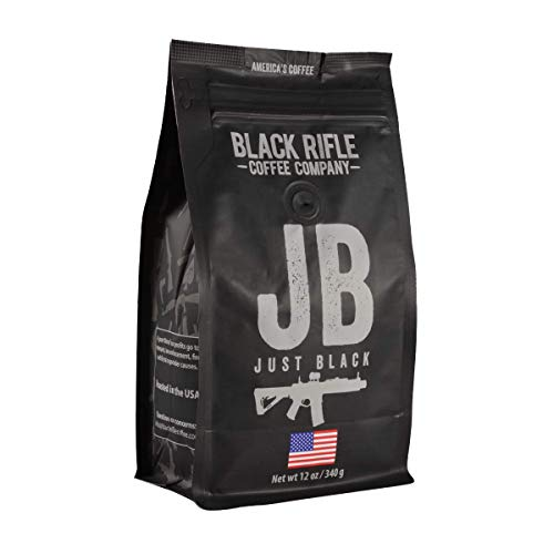 Just Black Medium Roast Whole Bean Coffee by Black Rifle Coffee Company | 12 oz Bag of Premium Gourmet Specialty Coffee | Perfect Coffee Lovers Gift