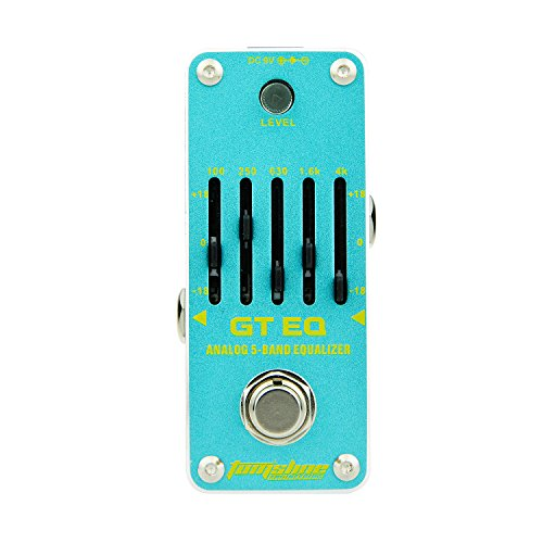 AROMA AEG-3 GT EQ Analog 5-Band Equalizer E-Gitarre Effektpedal Mini Single Effekt mit True Bypass