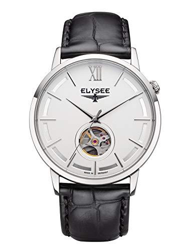 Elysee, 77010, unisex, automatisch horloge voor volwassenen, met lederen armband