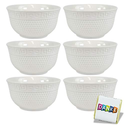 Porzellan Schalen Set 12 teilig · Müslischalen Set · weiße Schüsseln · Obstschale Suppenschüssel Salatschale Eisschale Ramenbowl · Schalenset · Porzellan Schüssel (Ejalo 12er Set)