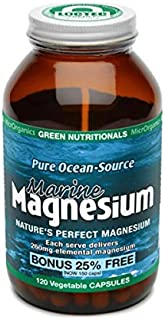 Green Nutritionals Pure Ocean-Source Marine Magnesium 120 Vegan Capsules,  120 count, Pack of 240