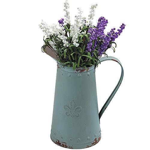 SHINGONE Jarrón de Metal con diseño de Flores para Sala de Estar, jarrón de Hierro Vintage, jarrón para decoración...