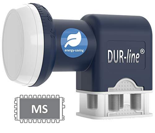 DUR-line Blue ECO Quattro LNB - extrem stromsparend - nur für Multischalter - Premium-Qualität - [ Test SEHR GUT *] digital, Full HD, 4K, 3D