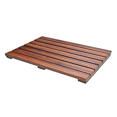 Soothing Styles Luxury Teak Bath Mat with Non Slip Feet & Natural Mildew Resistance for a Hotel Bathmat Inside the Shower or on the Bathroom Floor!