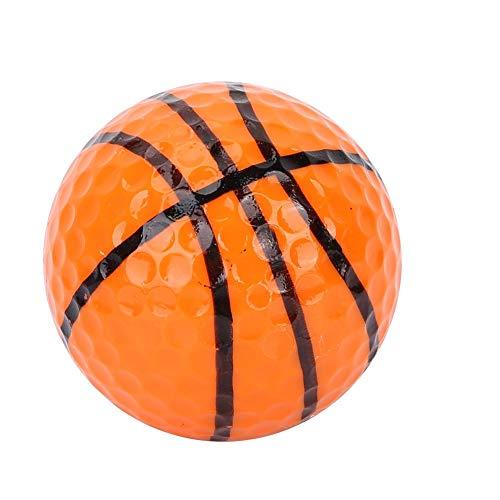 KSTE Golfbälle Bunt,Bunter Golfball,Bunte Gummigolfbälle 3Pcs, Baseball-Basketball-Fußball-Tennisball-Billardgolfbälle, farbige Qualitätssee-Golfbälle-Übungs-Sportausrüstung im Freien Farbe:Basketball