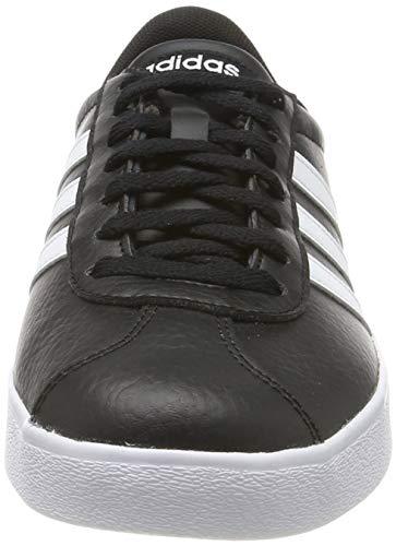 adidas VL Court 2.0', Zapatillas Hombre, Negro (Core Black/Footwear White/Footwear White 0), 42 EU