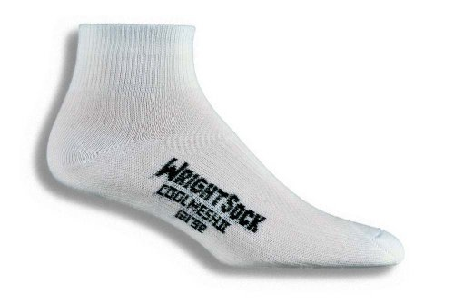 Wrightsock Coolmesh II Quarter Running Socks - 2 Pack, White, Medium