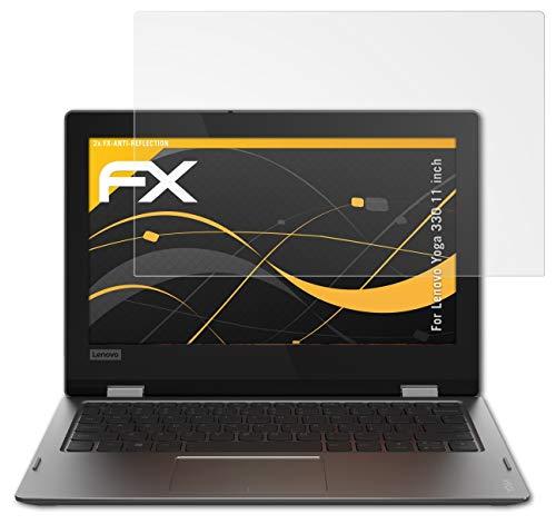 atFolix Panzerfolie kompatibel mit Lenovo Yoga 330 11 inch Schutzfolie, entspiegelnde & stoßdämpfende FX Folie (2X)