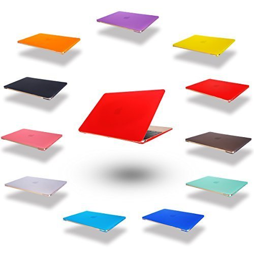 dizauL  elegante e leggera protezione ultra sottile Custodia cover coperchio protettivo duro caso notebook borsa guscio duro Custodia per 2015 Apple NEW MACBOOK 12 'Rosso