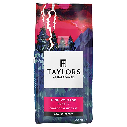 Taylors of Harrogate High Voltage Ground Coffee, 227 g (Pack of 6)